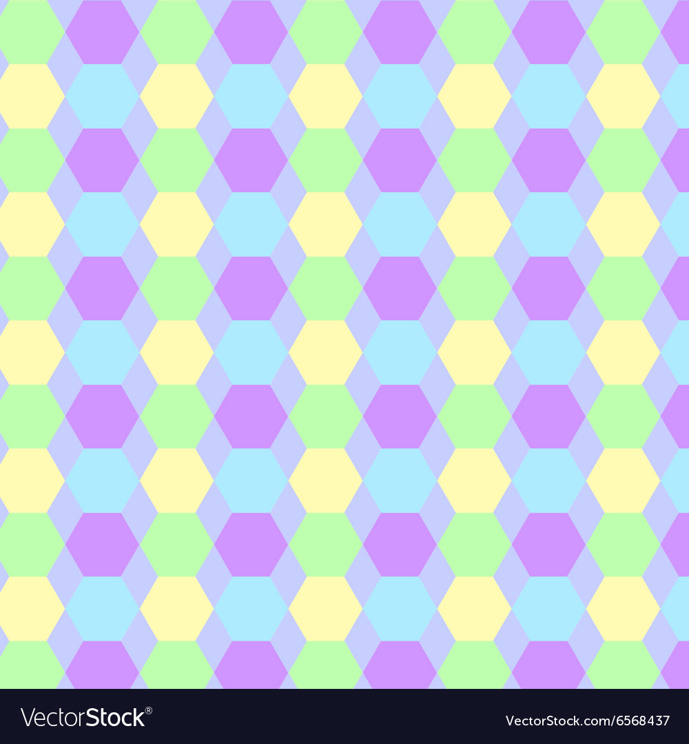 Pattern background hexagon vector image