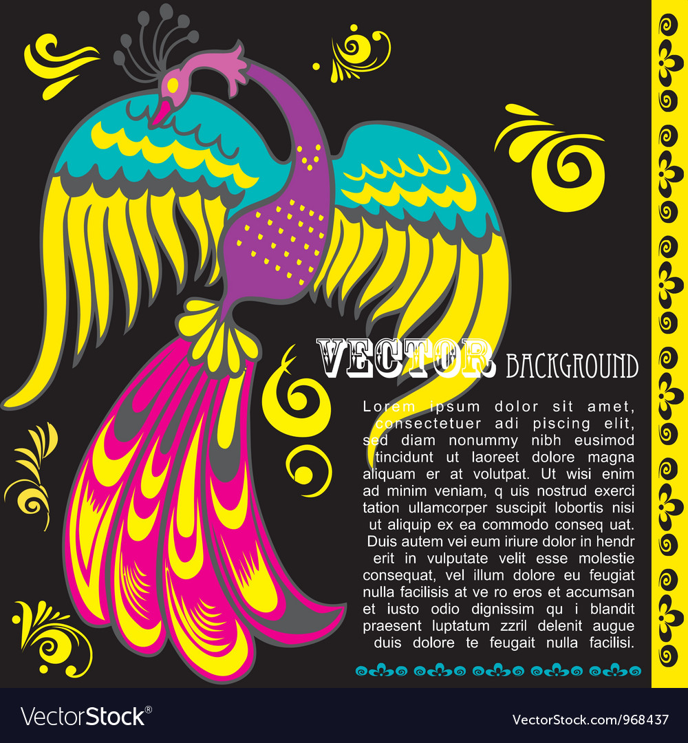 Retro grunge background with bird