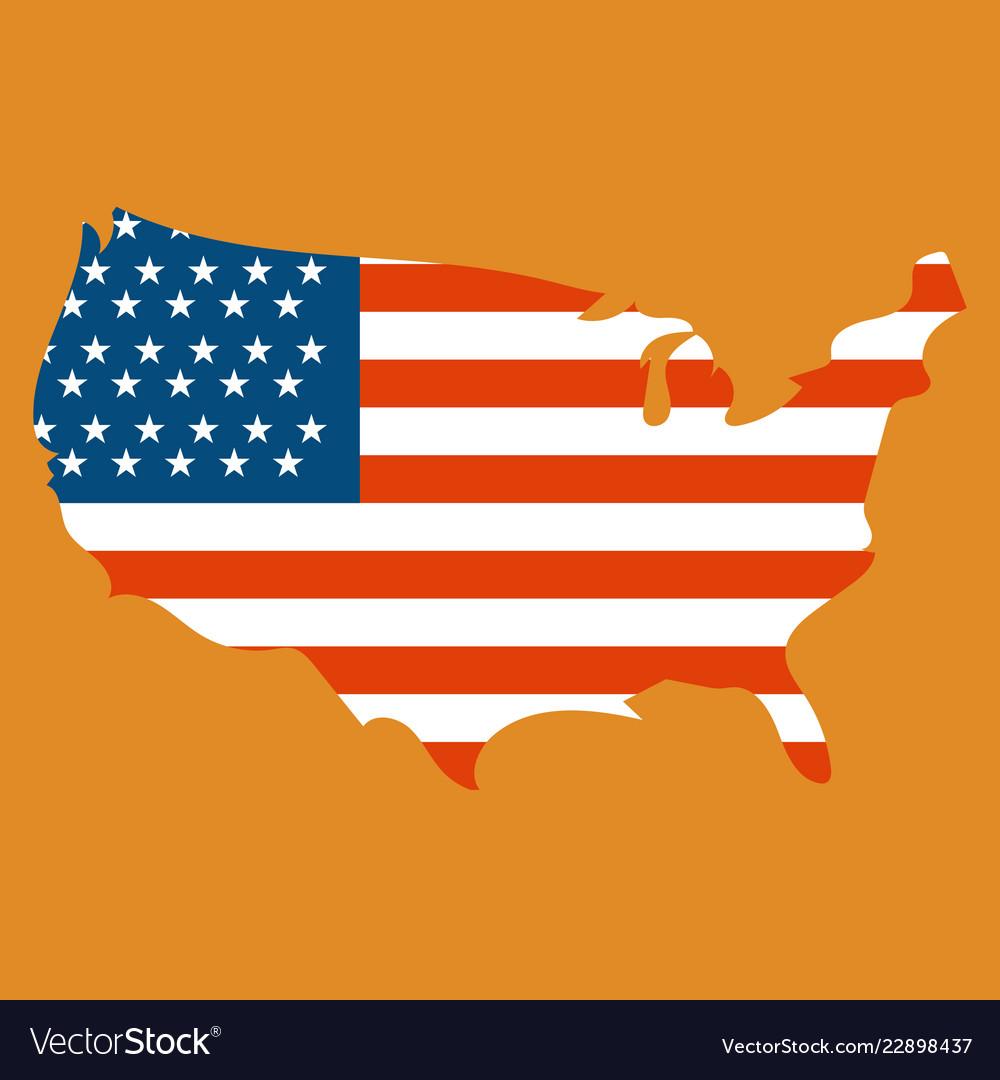 Usa map flag Royalty Free Vector Image - VectorStock