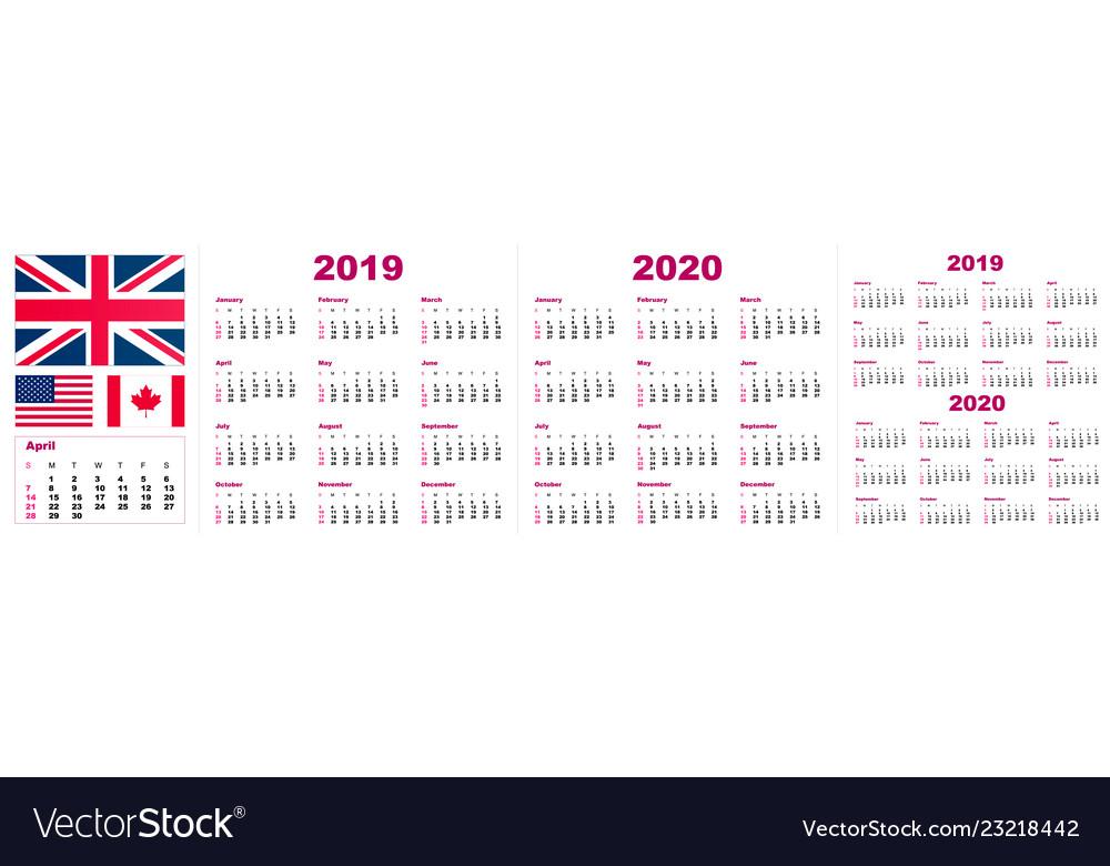 2019 2020 calendar year - the