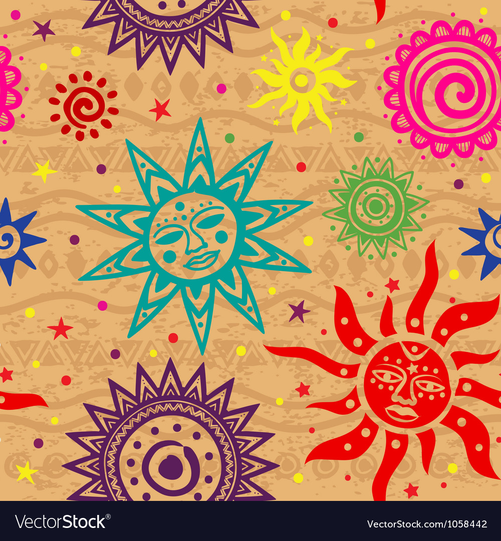 ethnic sun pattern royalty free vector image vectorstock