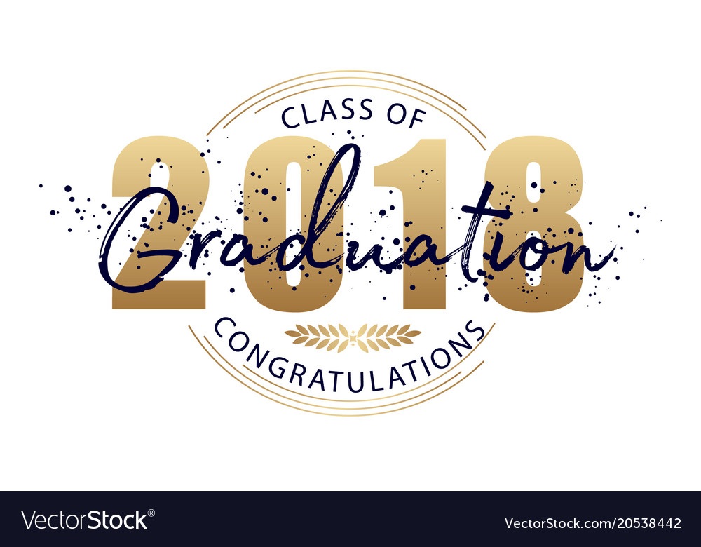 Graduation label text for graduation design vector image
