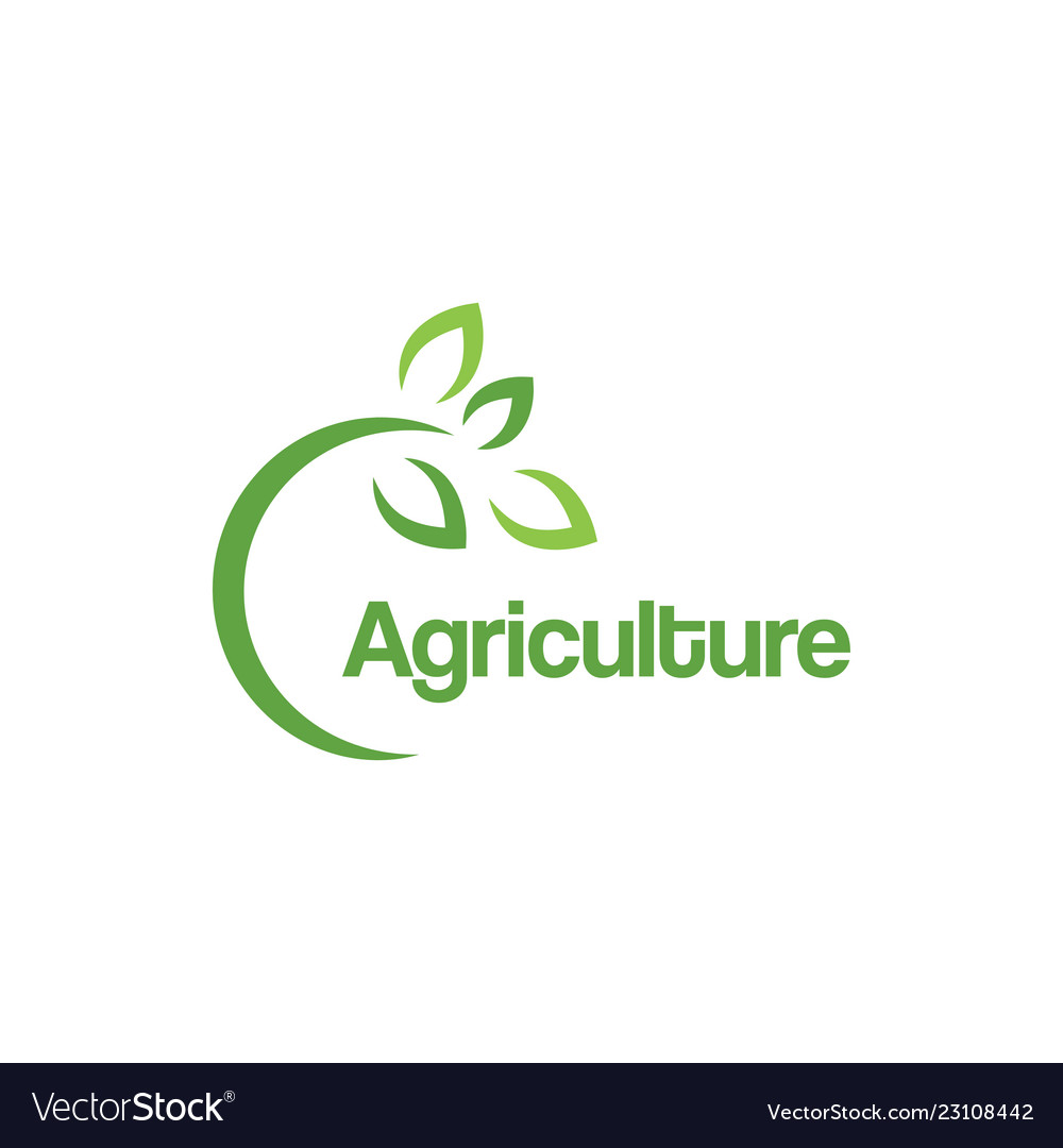 Green agriculture logo design template