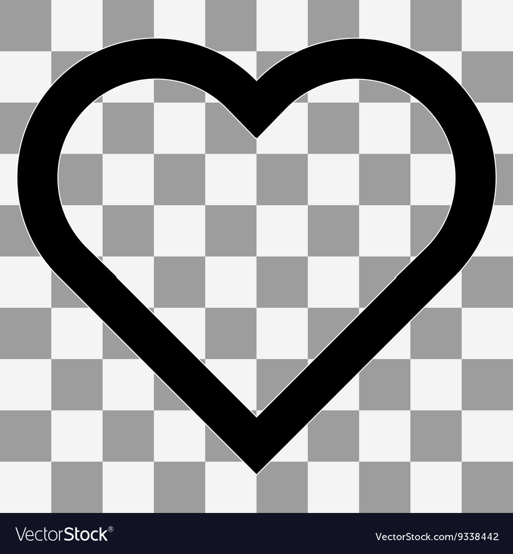 heart icon on a transparent royalty free vector image