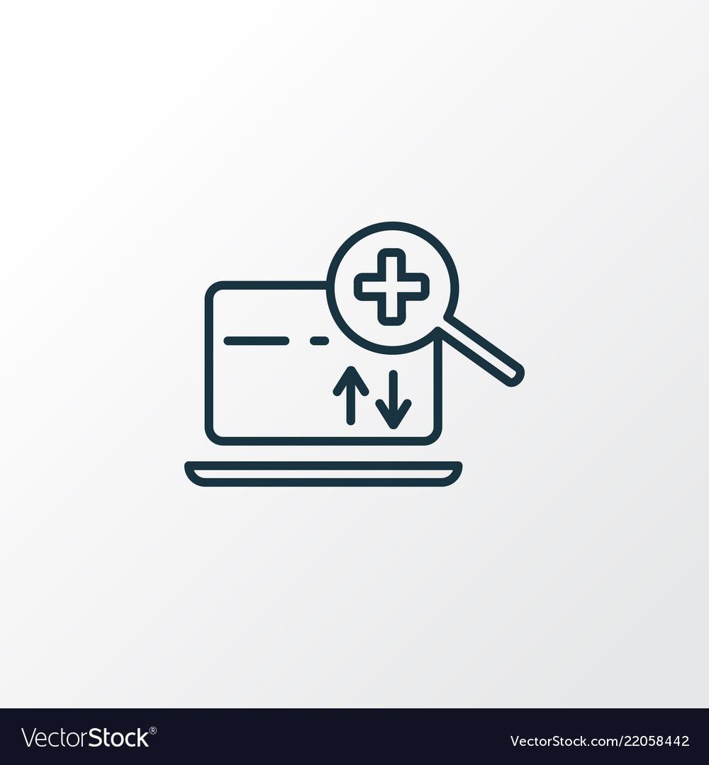 Search engine icon line symbol premium quality