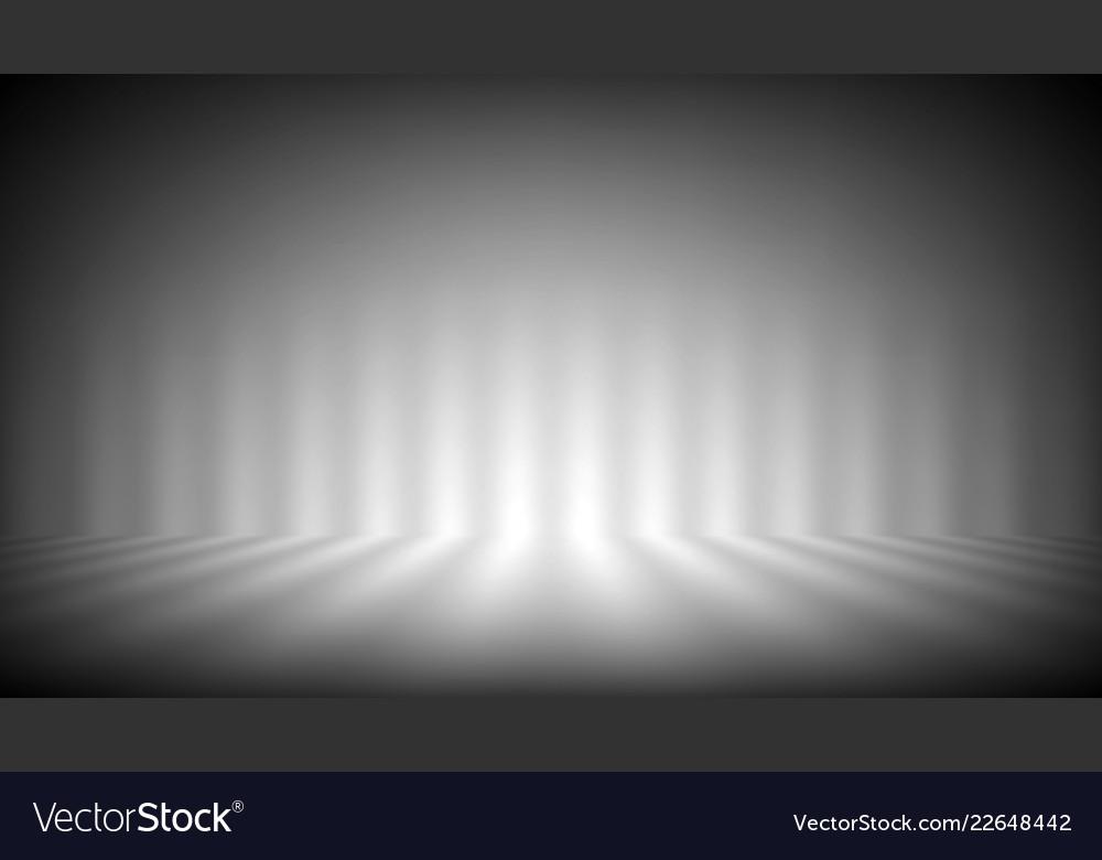 Soft gray photo studio strip lights room