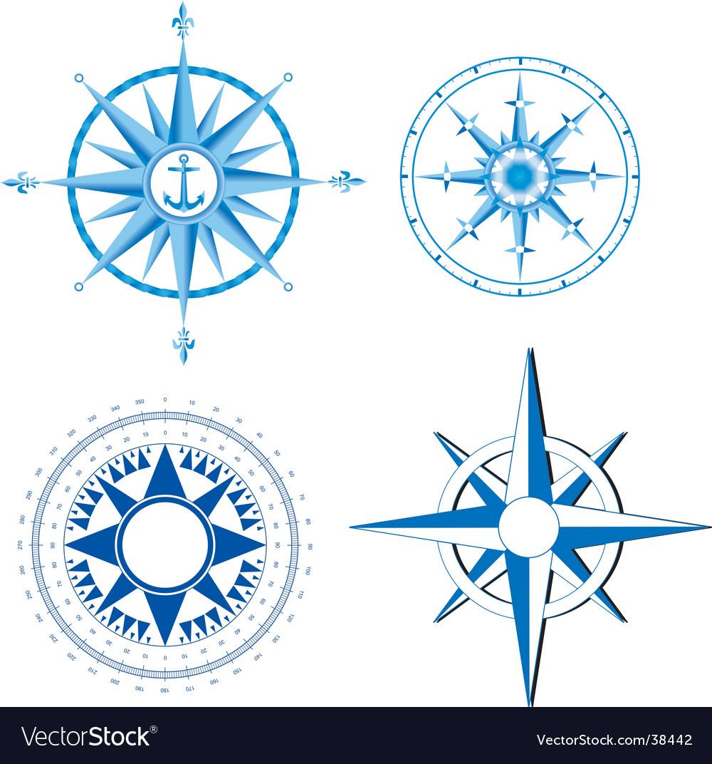 Wind rose nautical compass