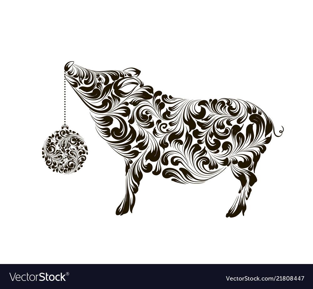 Chinese calendar symbol 2019 year