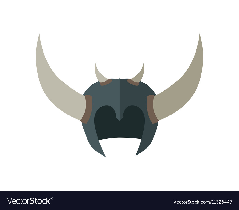 Fantasy Helmet with Horns vector image