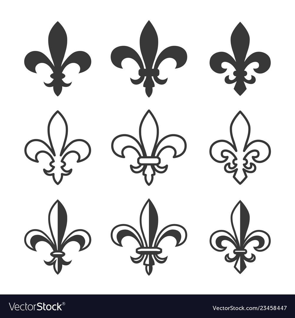Fleur de lys classic symbol set