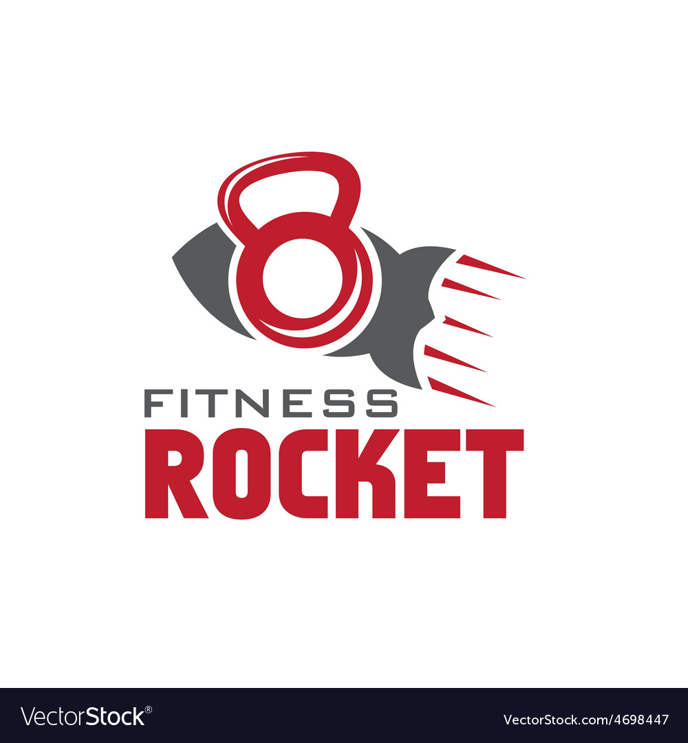 Rocket fitness concept vector image