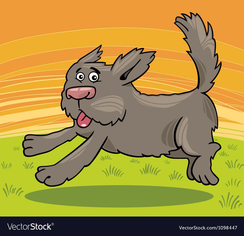 Running shaggy dog cartoon