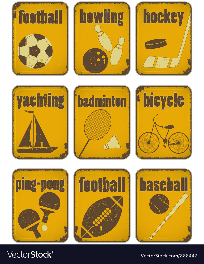 Set of Sport separate Signs