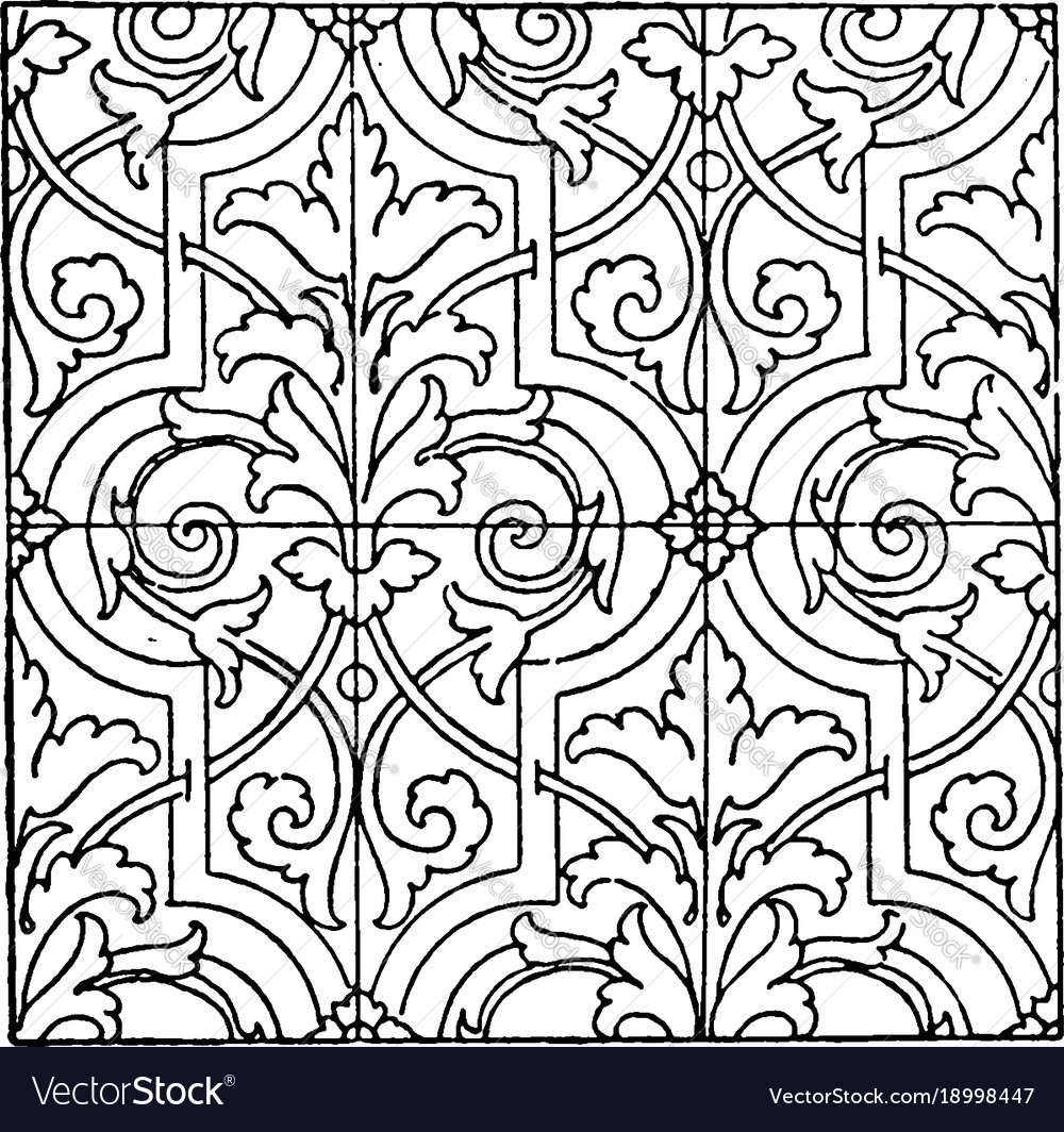 Stamped-leather pattern is a 17th century design