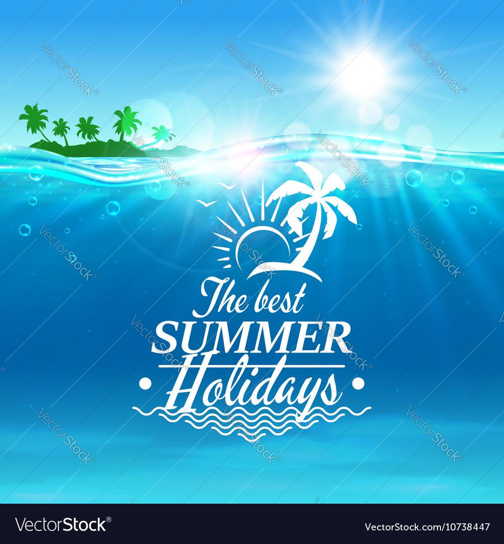 Summer holidays travel poster background