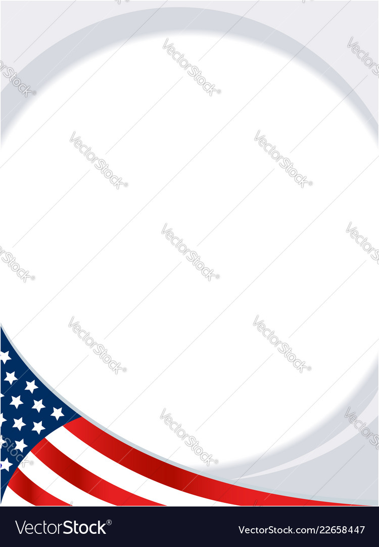 Usa abstract flag round border background