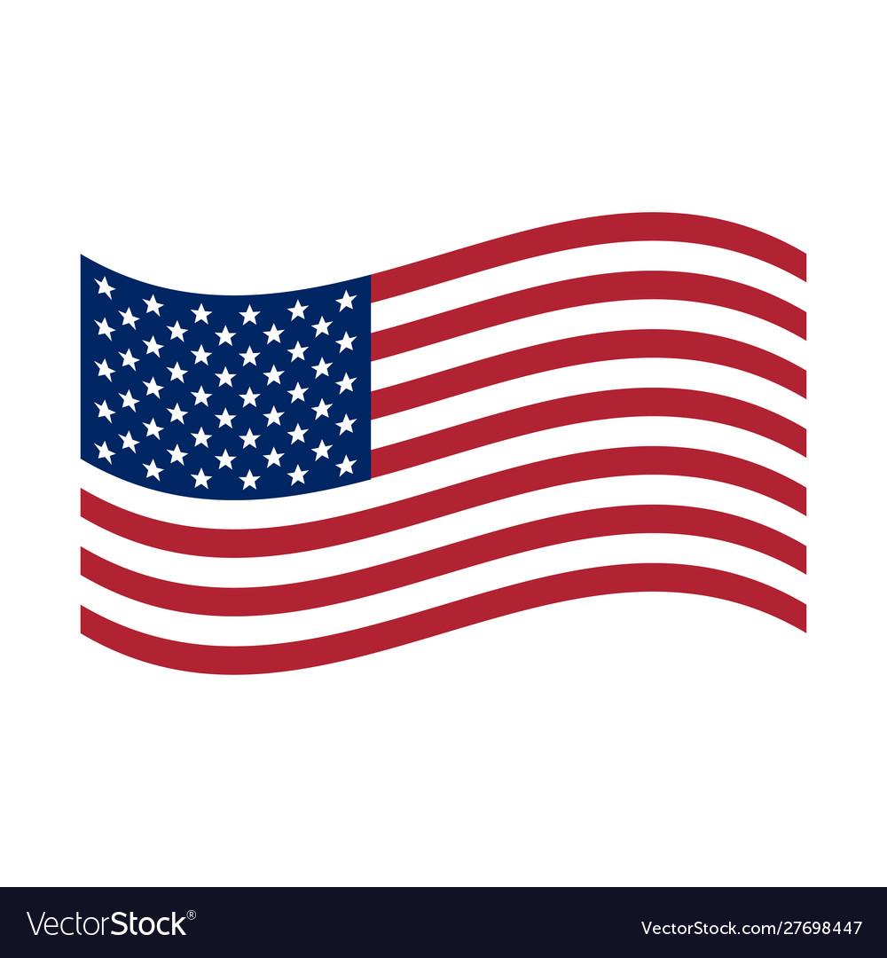 Waving flag usa united states america flag