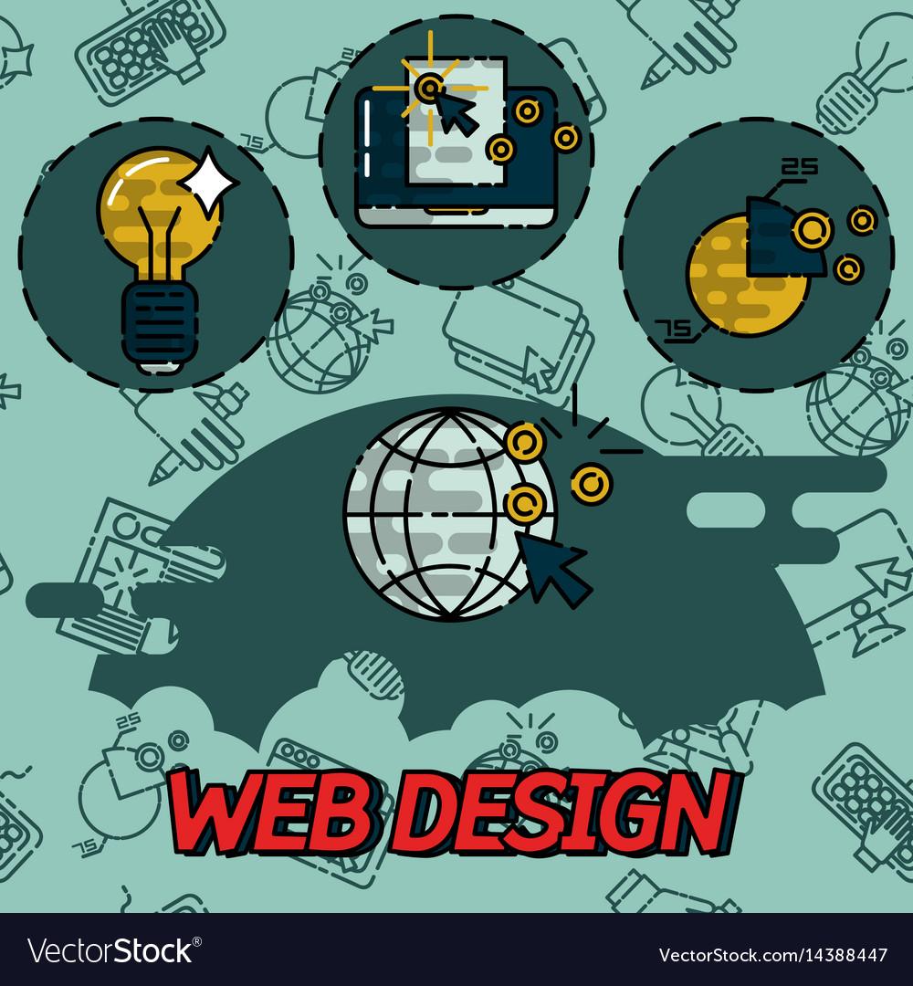 Web design flat concept icons