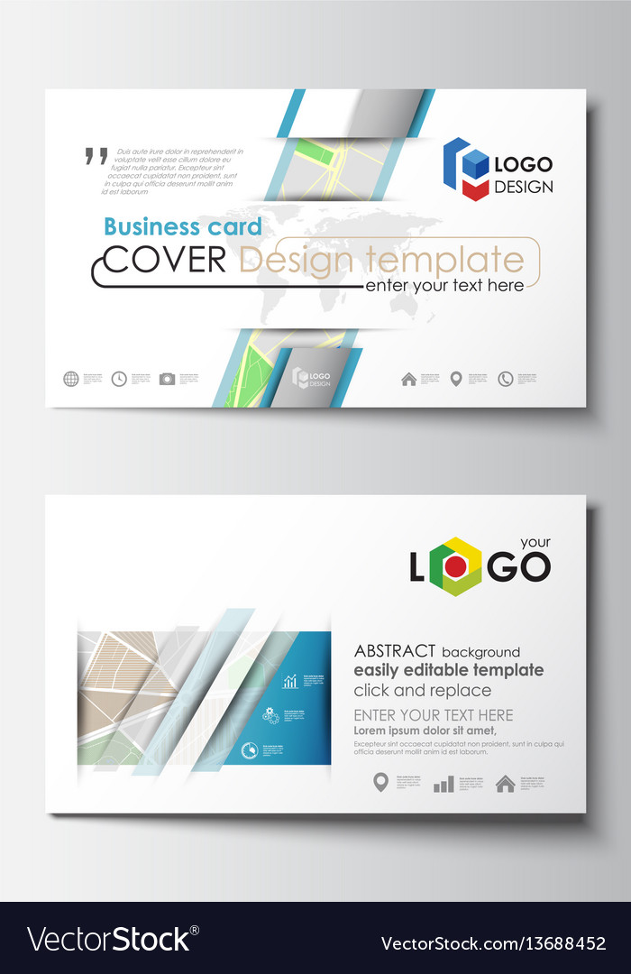 Business card templates easy editable layout vector image flashek Gallery