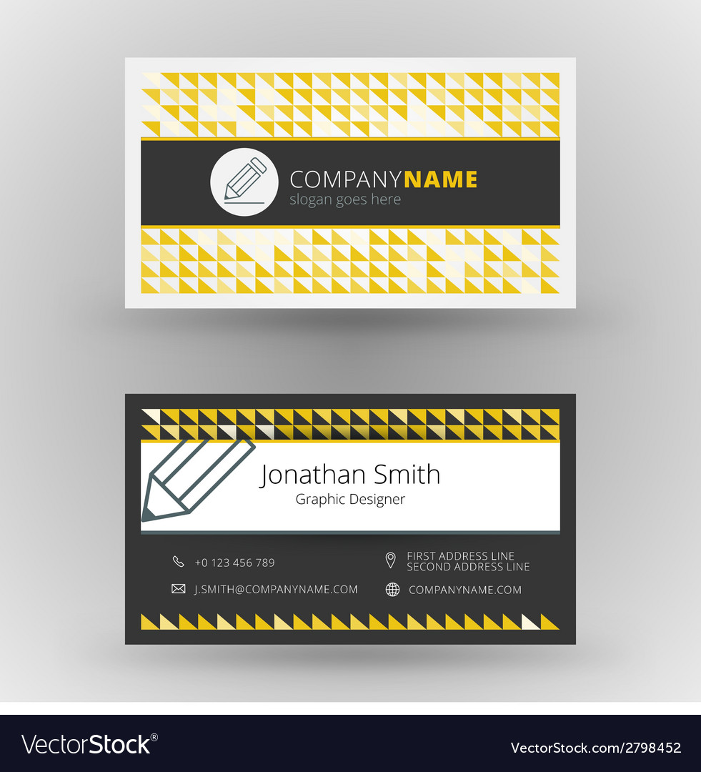 Creative business card design print template vector image reheart Choice Image
