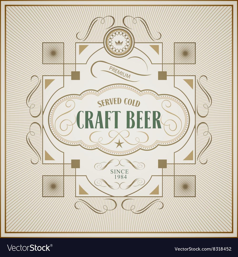 Good craft beer brewery vintage label