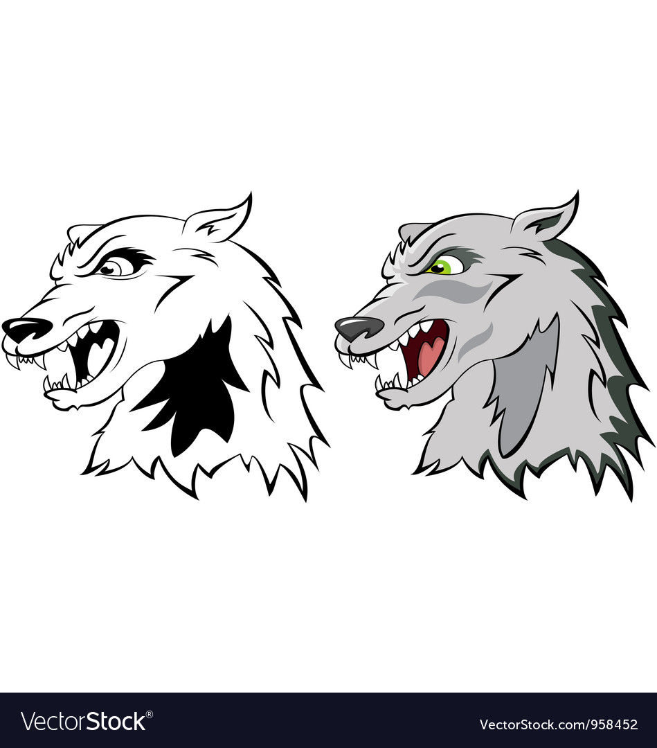 Head a wolf vector image