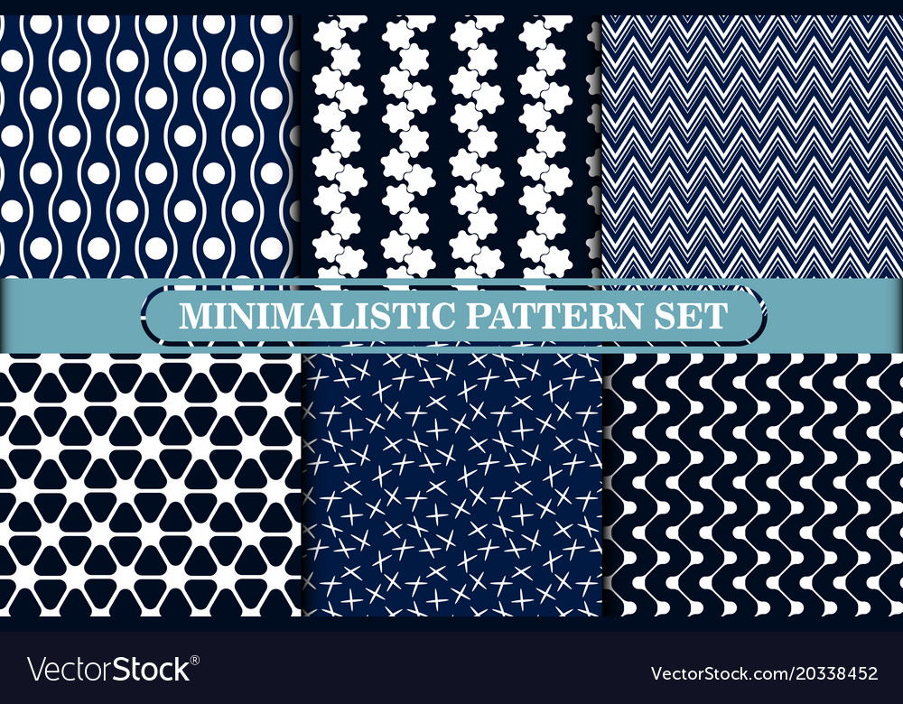 Minimalist Simple Geometric Seamless Patterns Vector Image