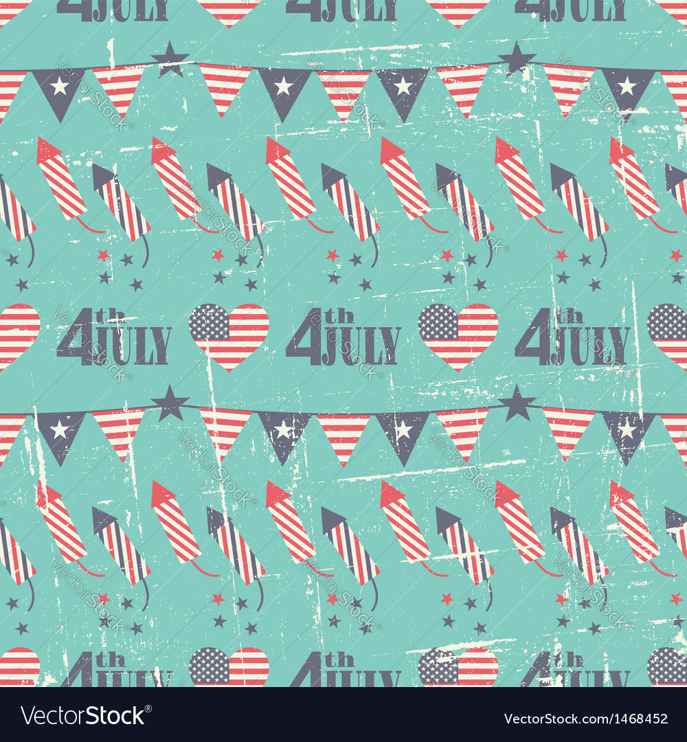 Patriotic seamless pattern for Independence Day