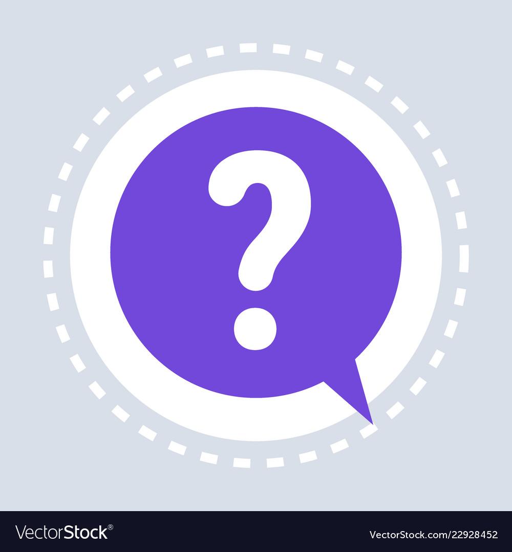 Question mark help speech chat bubble symbol