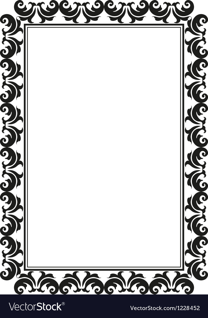 Rectangular frame Royalty Free Vector Image - VectorStock