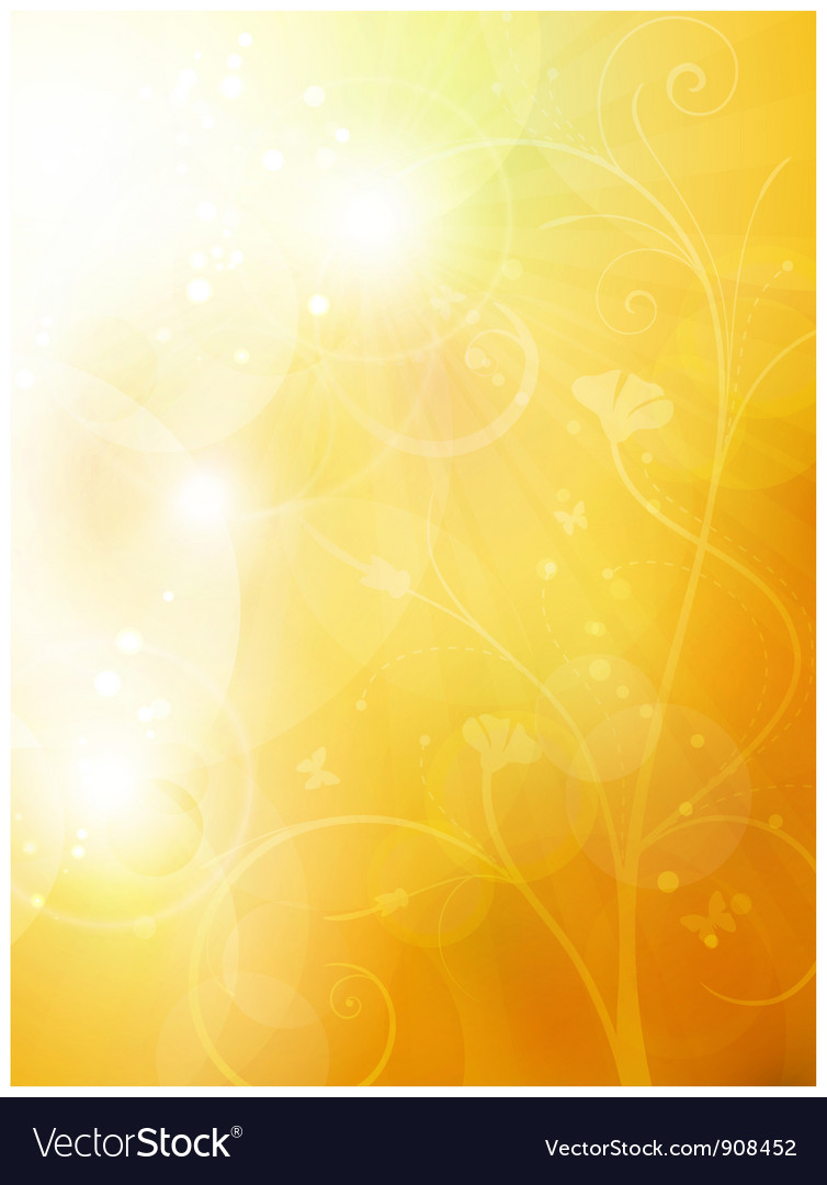 Soft golden sunny summer