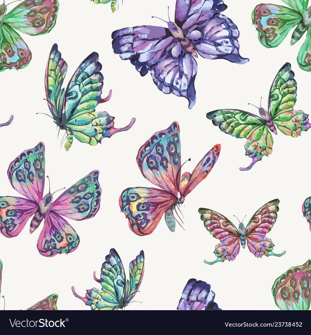 Spring natural seamless pattern