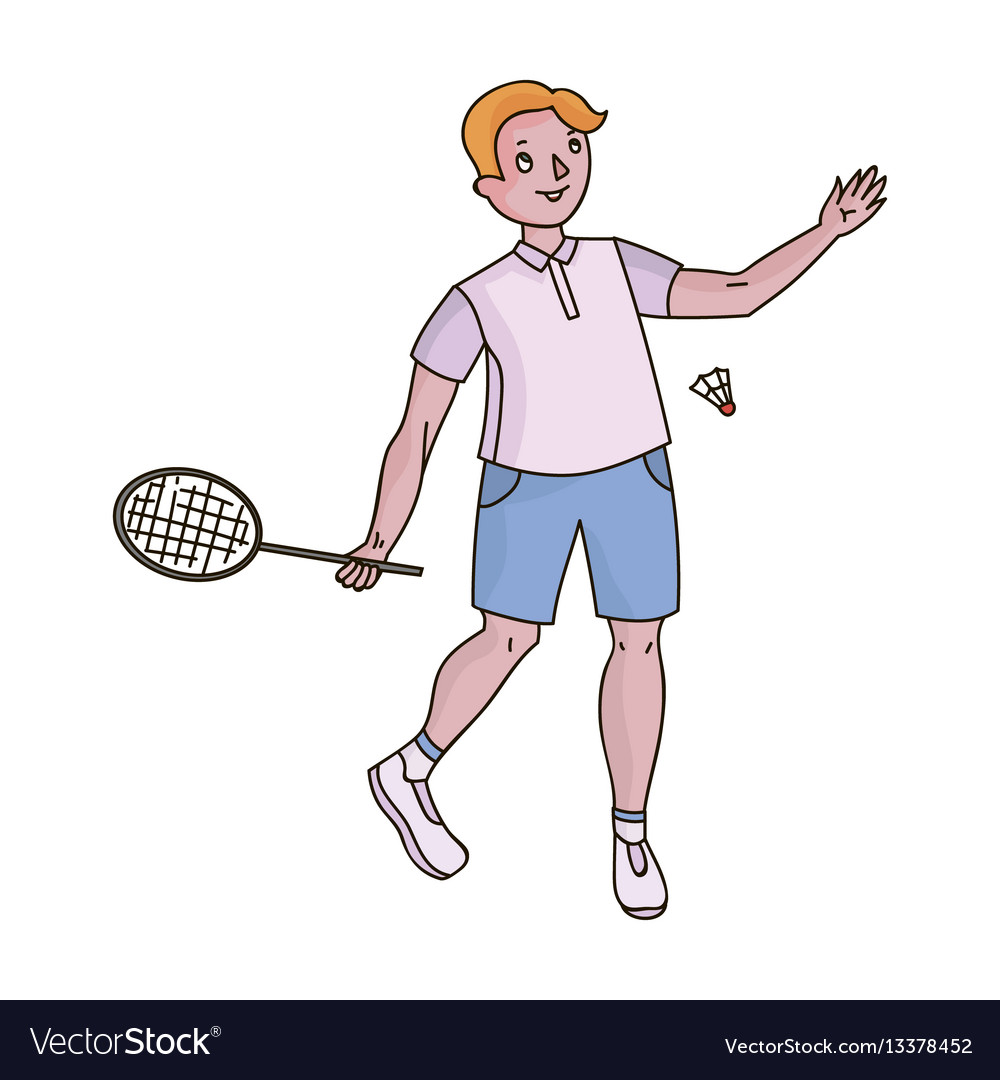 Young people involved in badminton the game of