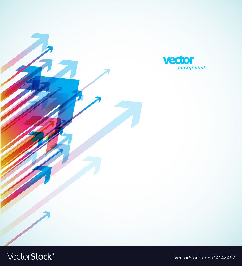 Abstract colorful arrows background wallpaper