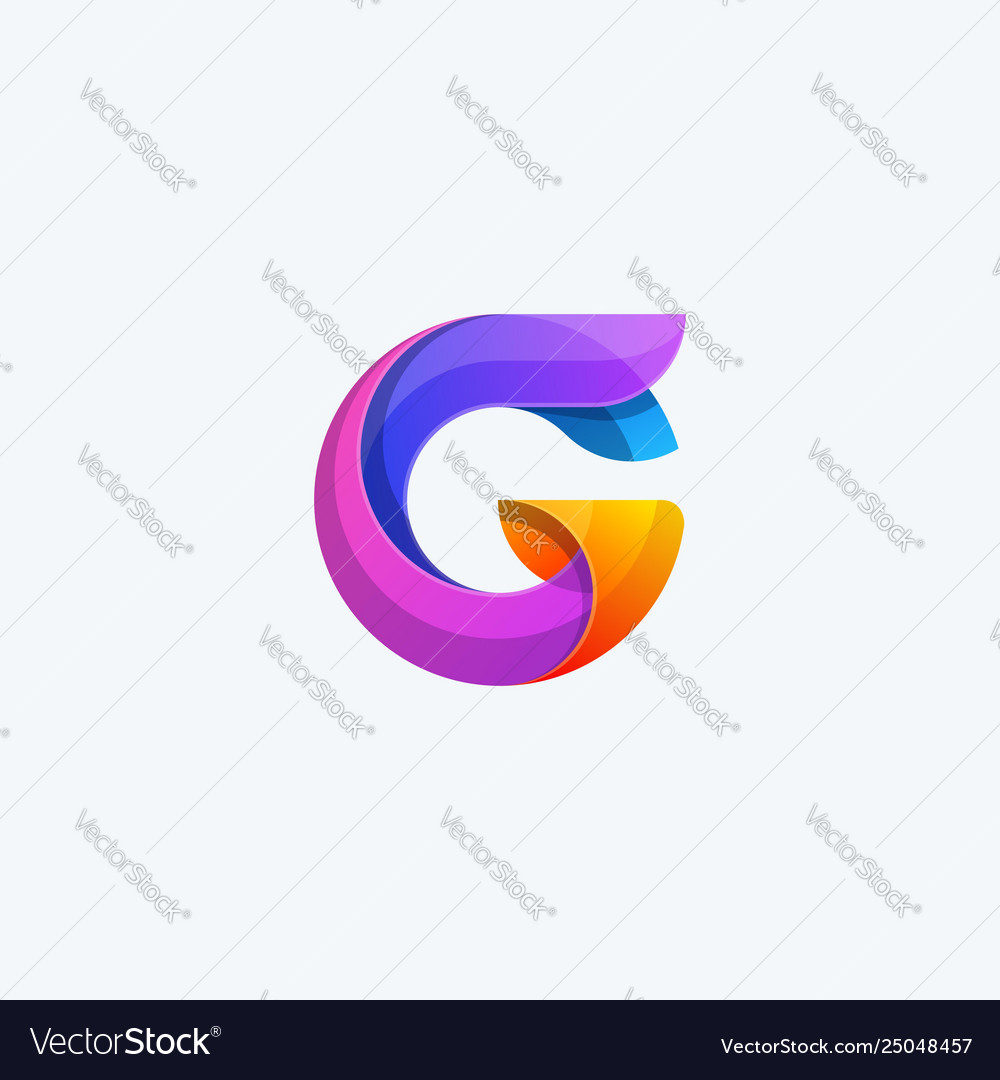 Abstract g color concept vector image