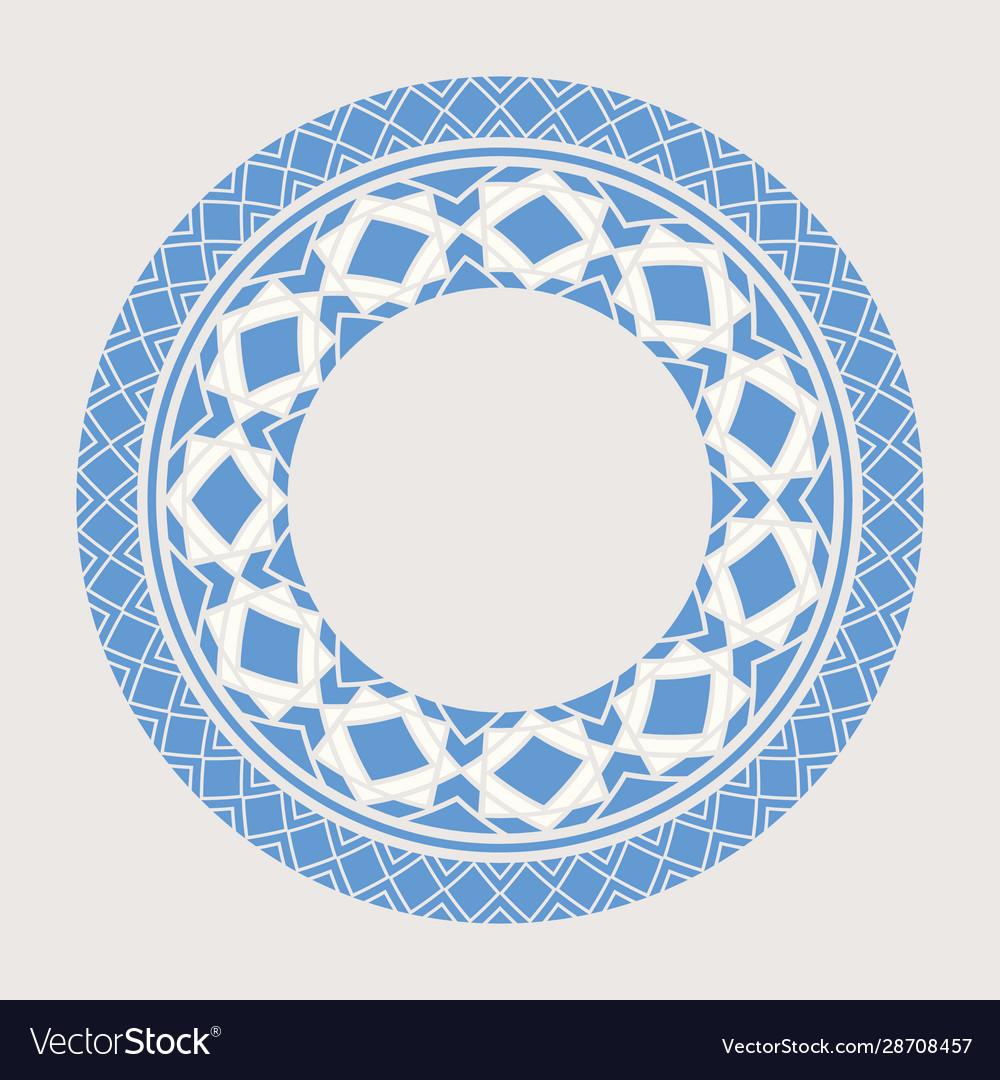 Asian mandala frame