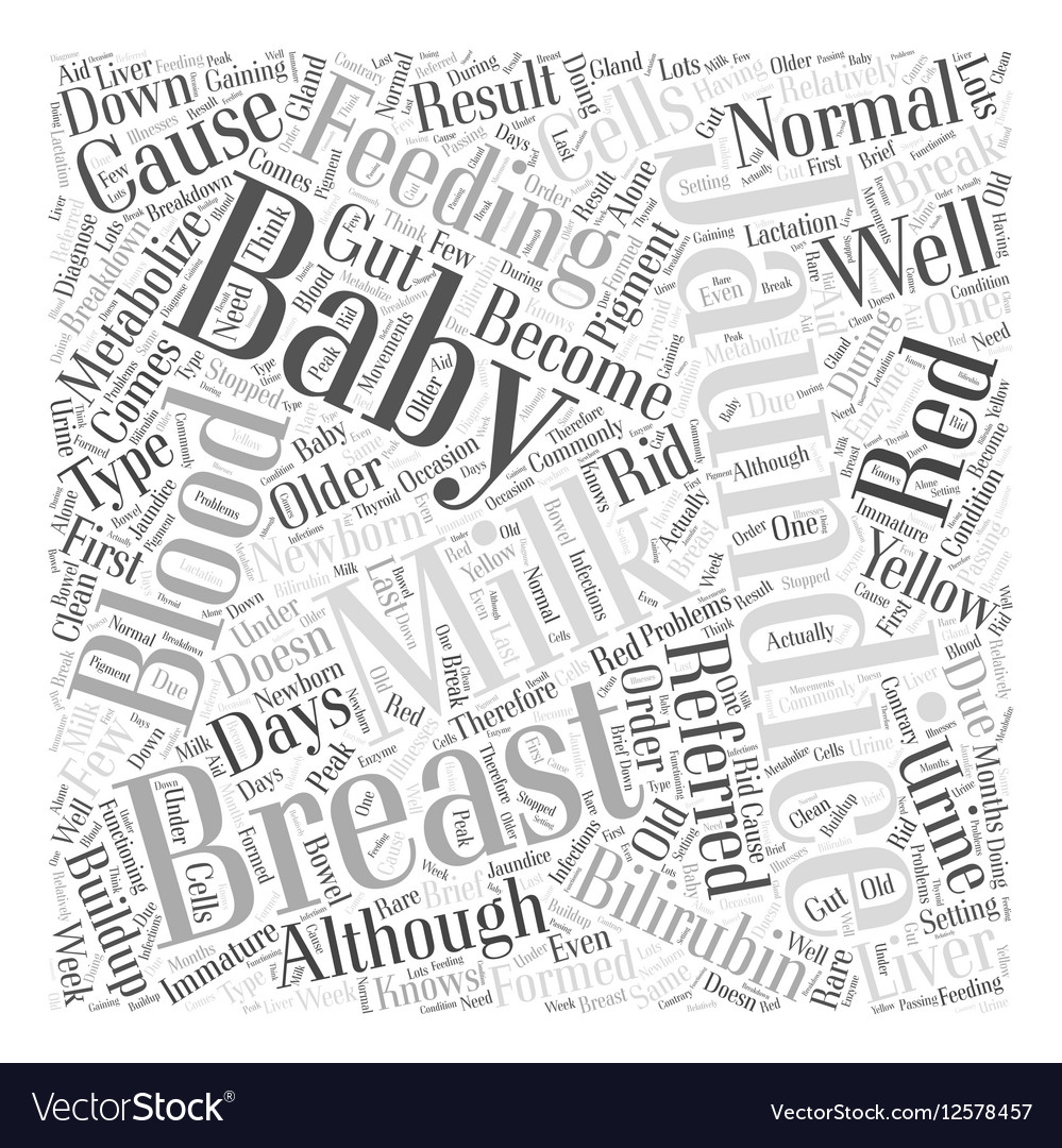Breast Feeding And Jaundice Word Cloud Concept