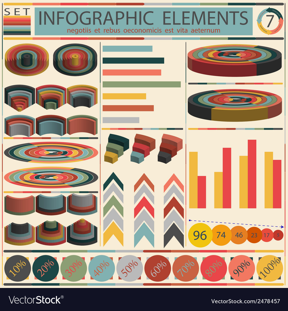 Detail infographic - retro style design