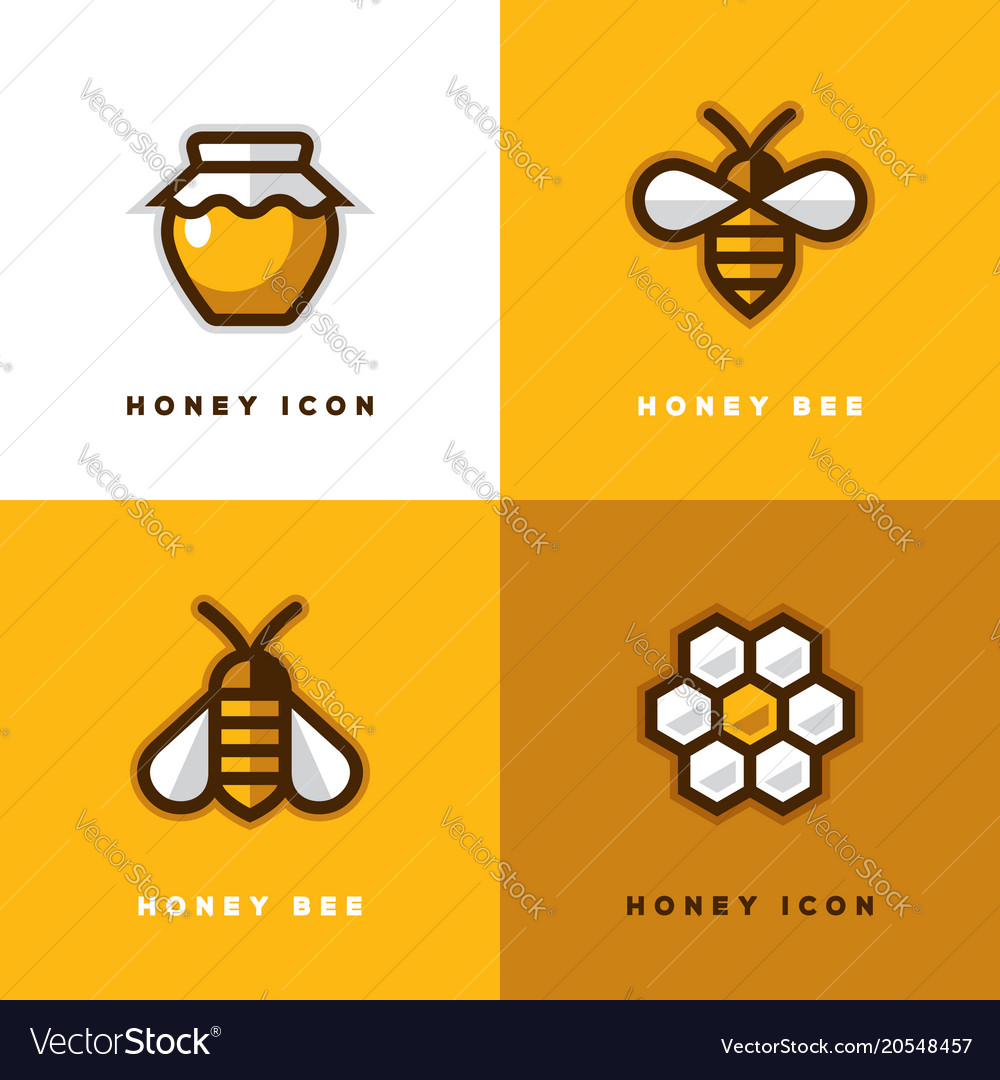 Four honey logo vector image