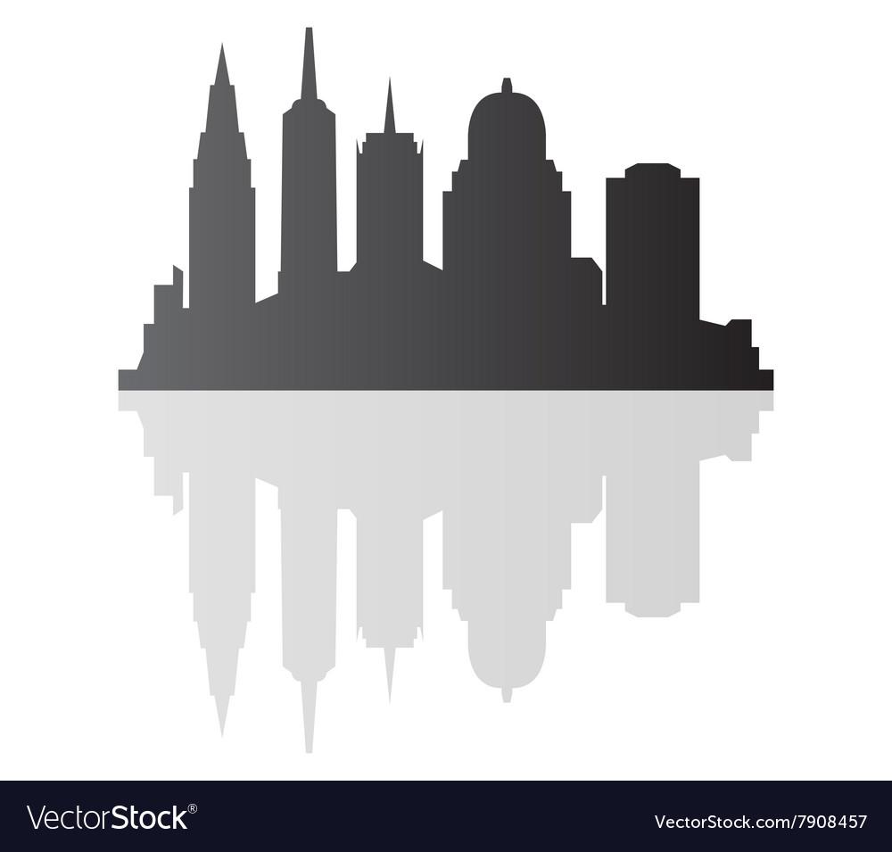 New York Skyline Royalty Free Vector Image Vectorstock