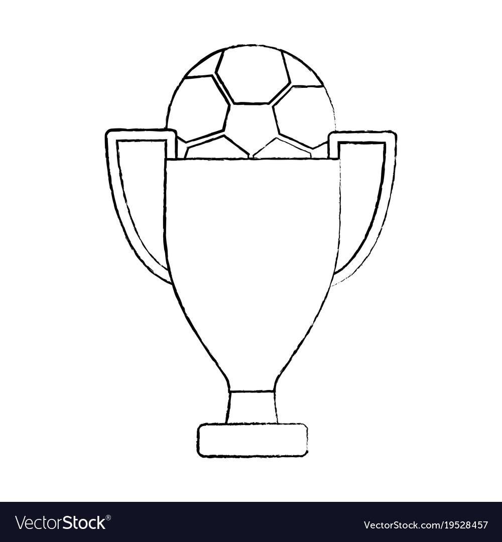 Trophy soccer ball winner sport