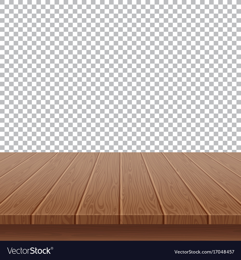 table background picsart wood table top on isolated background vector image royalty free vector