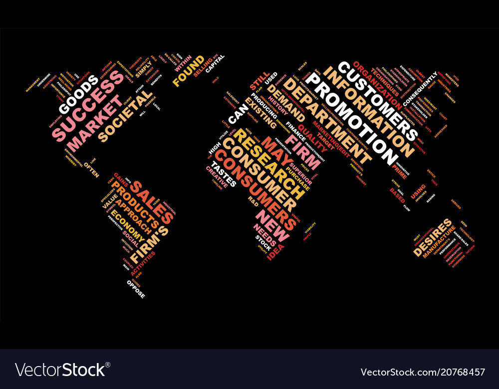 Word cloud business concept world map from text vector image gumiabroncs Gallery