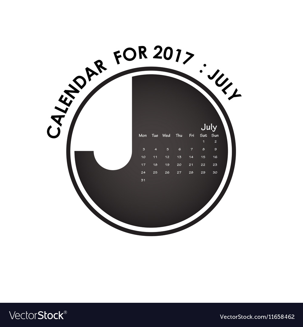 2017 calendar design stationery template vector image