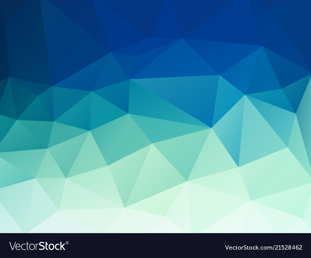 Abstract Green Blue Pastel Polygonal Background