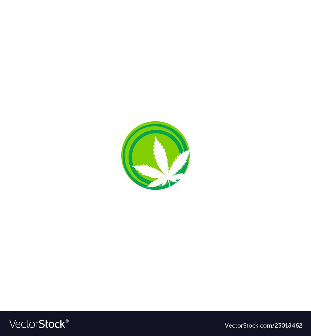 Cannabis leaf sign logo