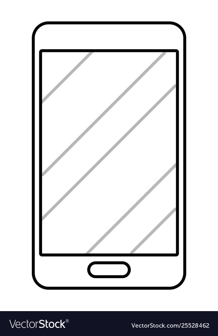 Cellphone icon cartoon in black and white