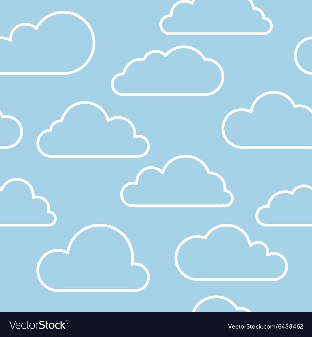 Cloud seamless pattern