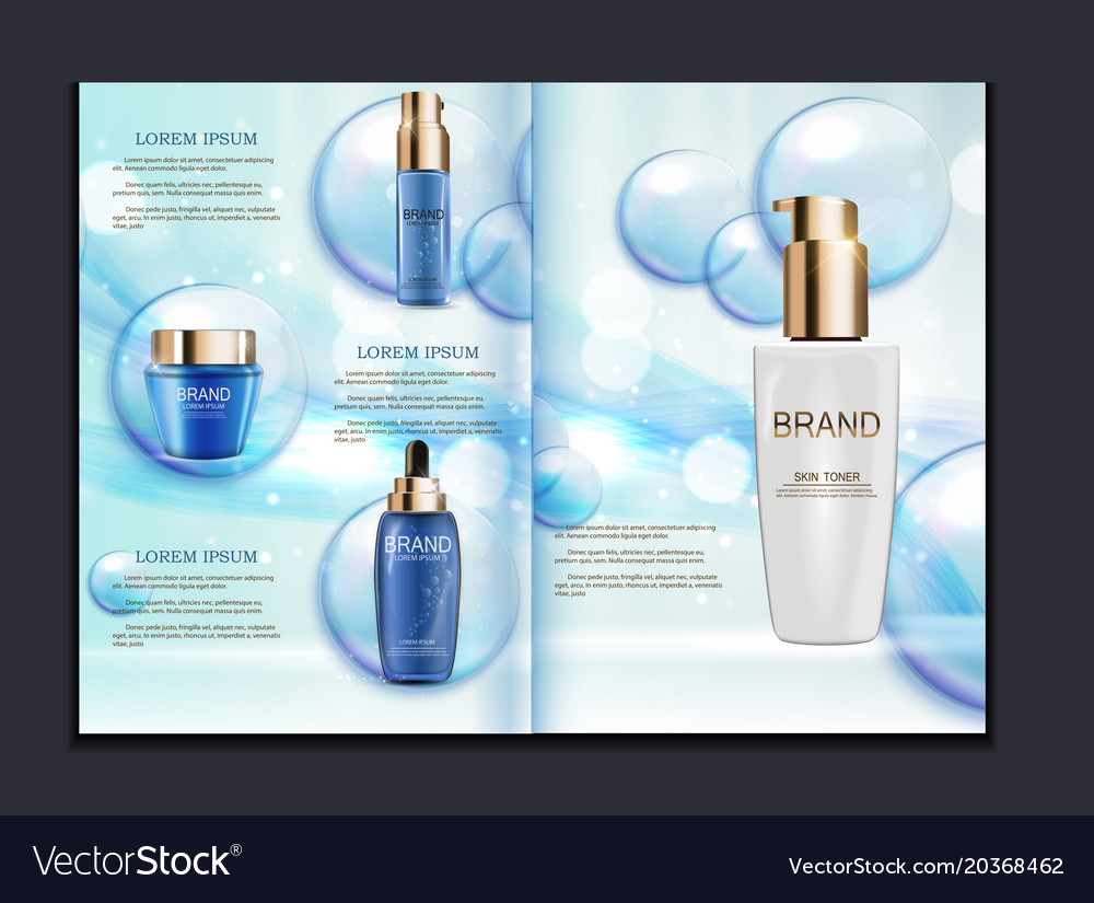 design cosmetics product brochure template for ad vector image