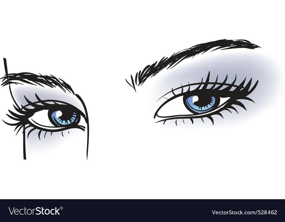 Female blue eyes vector image
